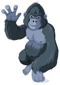 Gorilla showing high five — Stock Vector