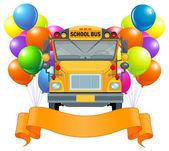 Okul otobüsü balonları — Stok Vektör