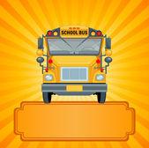 Cartoon illustration of a school bus — Stock Vector