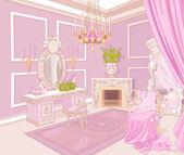 Princess dressing room — Vector de stock