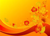 Podzimní listí pozadí — Stock vektor