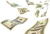 Dinheiro no ar. — Foto Stock