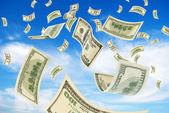 Money in sky. — Stock Photo