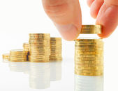 Distribution of financial assets. — Stock Photo