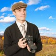 Photographer for shooting landscapes. - Stock Photo