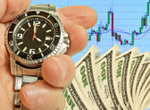 Speculation on the stock exchange. — Stock Photo