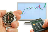 Analysis of the activity of the stock market. — Stock Photo