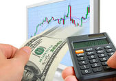 Successful operations on the stock exchange. — Stock Photo