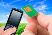 Mobile communications. — Stock Photo