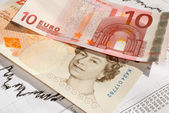 EUR - GBP - Euro British Pound, the exchange rate. — Stock Photo
