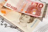 EUR - GBP - Euro British Pound, the exchange rate. — Stock Photo