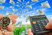 Calculation of financial gain. — Stock Photo