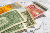 Cross-rate, usd - euro-chf. — Stock Photo