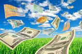 Transacciones en divisas. — Foto de Stock