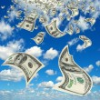 Stock Photo: Money in the sky.