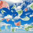 Stock Photo: Euro in sky.