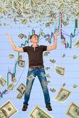 Happy trader. — Stock Photo