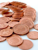 Russian copper coin of the monarchy. — Stock Photo
