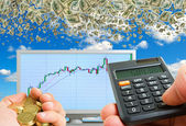 Successful financial strategy. — Stock Photo