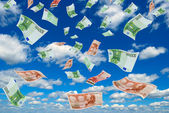 Euro in sky. — Stock Photo