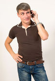 Man talking on cell phone. — Stock Photo