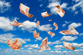 Russian money in sky. — Stock Photo