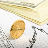 Indicator of currency trading. — Stock Photo