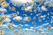 Money in the sky. — Stock Photo