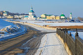 Cheboksary in anticipation of spring. — Stock Photo
