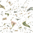 Money in the air. — Stock Photo