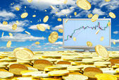 Successful operations in the foreign exchange market. — Stock Photo