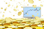 Speculation in the currency market. — Stock Photo