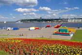 Cheboksary bay, Cheboksary, Chuvashia, Russia. — 图库照片