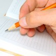 Hand with pencil. — Stock Photo #5672398
