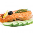 Appetizing Grilled Salmon — Stock Photo #1423081