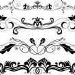 Set of horizontal ornaments - Stock Vector