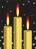 Gold candle — Stock Vector