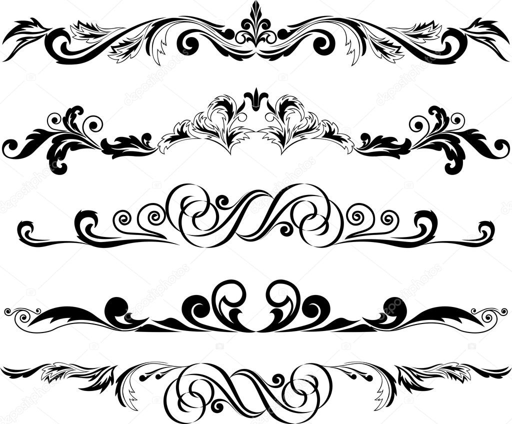 Decorative Horizontal Line Clip Art