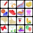 Royalty-Free Stock Vector Image: Set of 16 icons for web sites