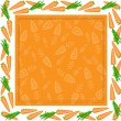 Frame from different carrots - Stock Vector