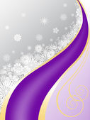 Gray-purple background with snowflakes — Vector de stock