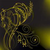 黄色植物组成 — 图库矢量图片