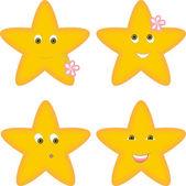 Four stars — Stock Vector