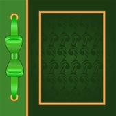 зеленая крышка с золотой раме — Cтоковый вектор