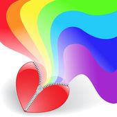 Rainbow from the heart — Stock Vector