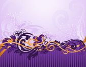 Horizontal purple pattern with stripes — Stock Vector
