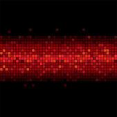 Red flicker in the black — Stock Vector