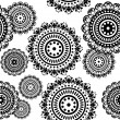 Seamless pattern of round ornaments — Stock Vector #24121513