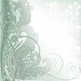 Fond vert à pois blancs — Vecteur