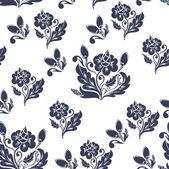 Tmavě modrý květinový vzor bezešvé — Stock vektor